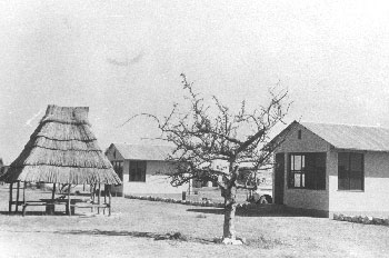 The first bungalows at Okaukuejo